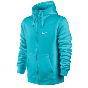 Nike Club Swoosh Full Zip Hoodie   Mens   Casual   Clothing   Gamma Blue/White