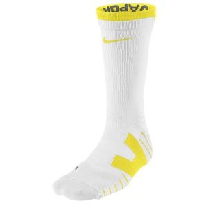 Nike Vapor Football Crew Socks   Mens   Football   Accessories   White/White/Yellow Strike