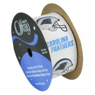 "CAROLINA PANTHERS RIBBON CAROLINA PANTHERS HAIRBOW RIBBON, CRAFTING RIBBON, GIFT WRAP RIBBON 1 5/16"" WIDTH NFL RIBBON Sports & Outdoors"