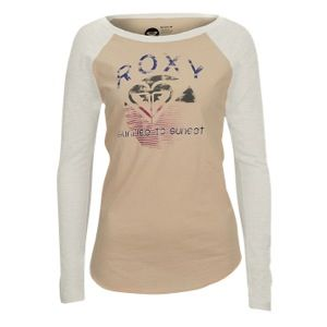 Roxy Activated Long Sleeve Raglan T Shirt   Womens   Casual   Clothing   Metro Oatmeal