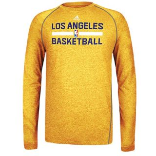 adidas NBA Climalite Practice L/S T Shirt   Mens   Basketball   Clothing   Los Angeles Lakers   Gold