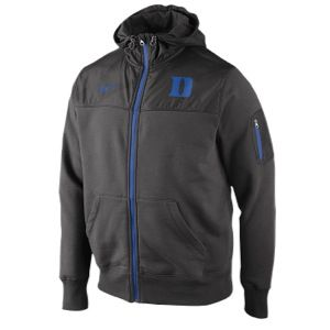 Nike College Stealth Full Zip Fleece Jacket   Mens   Football   Clothing   Duke Blue Devils   Charcoal