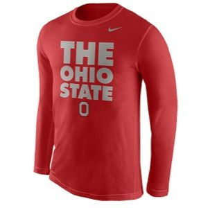 Nike College Dri FIT Legend Warm Up T Shirt   Mens   Basketball   Clothing   Ohio State Buckeyes   University Red
