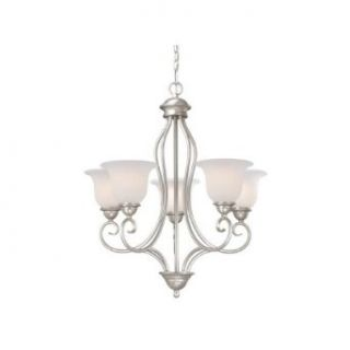 Vaxcel Lighting PA CHU005BN Five Light Up Lighting Chandelier from the Picasso Collection, Brushed Nickel   Chandeliers