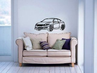 HONDA Accord Coupe Super Sport Car Auto Garage Wall Vinyl Decal Art Design Murals Modern Interior Decor Sticker Removable Room Window (SV4394)