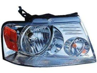 PASSENGER SIDE HEADLIGHT Ford F 150, Ford F 250, Ford F 350, Ford F 450, Lincoln Mark LT HEAD LIGHT ASSEMBLY; CHROME; EXCEPT HARLEY DAVIDSON; Automotive