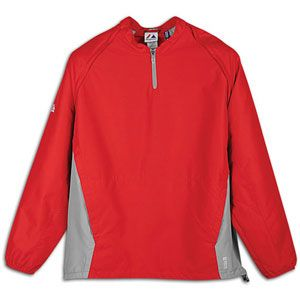Majestic Cool Base Convertible Gamer Jacket   Mens   Baseball   Clothing   Pro Scarlet/Pro Silver