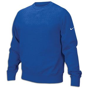 Nike Team Core Crew Fleece   Mens   For All Sports   Clothing   Royal/White
