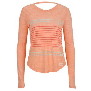 Roxy Stripe Side Long Sleeve T Shirt   Womens   Casual   Clothing   Island Coral