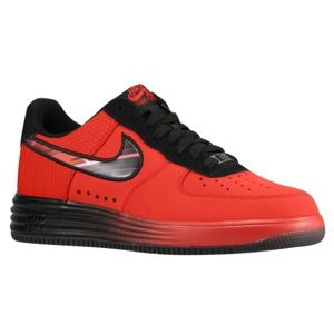 Nike Air Force One Lunar   Mens   Basketball   Shoes   University Red/Challenge Red/Black