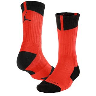 Jordan AJ Dri Fit Crew Socks   Mens   Basketball   Accessories   Infrared 23/Black