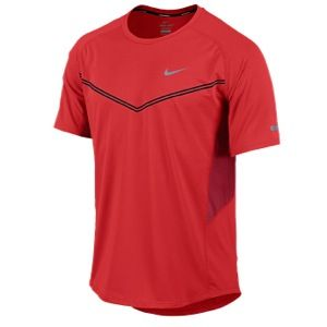 Nike Dri FIT Technical Short Sleeve T Shirt   Mens   Running   Clothing   Light Crimson/Gym Red/Reflective Silver