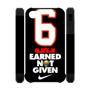 NBA Miami Heat star Lebron James 6 EARNED NOT GIVEN Tshirts Iphone 4/4S Case New style Case Cover Cell Phones & Accessories