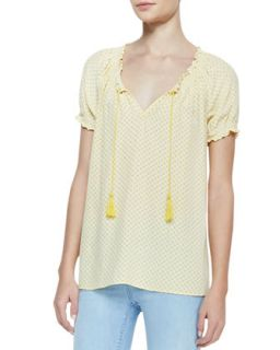 Womens Masha Printed Short Sleeve Blouse   Joie   Summer sun (MEDIUM)