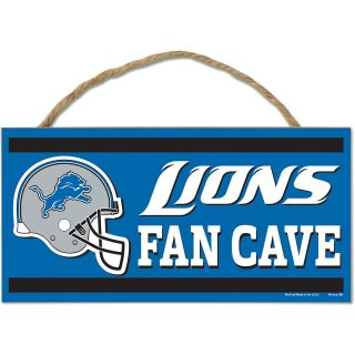 Wincraft Detroit Lions 5X10 Wood Sign with Rope (82992013)