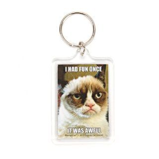 Grumpy Cat I Had Fun Once Lucite Keychain Toys & Games