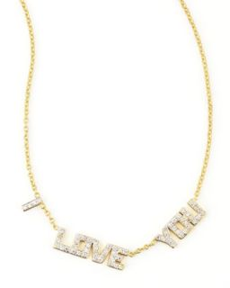 I Love You Diamond Necklace   Kacey K   Gold