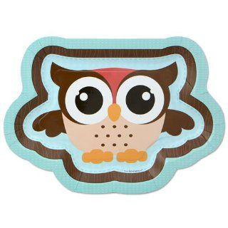 Owl   Look Whooo's Having A Baby   Dinner Plates   8 Qty/Pack   Baby Shower Tableware Toys & Games