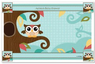 Owl   Look Whooo's Having A Baby   Baby Shower Personalized Placemats Toys & Games