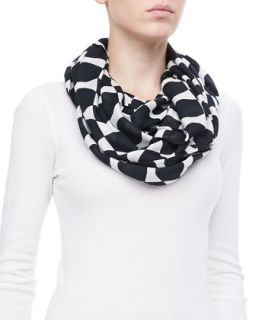 logo bow infinity scarf   kate spade new york   Black/Cream (ONE SIZE)