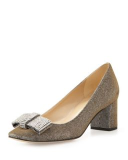 dina glitter bow pump, bronze   kate spade new york   Bronze (7B)