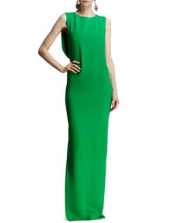 Womens Bow Back Jersey Column Gown   Lanvin   Apple green (38US6)