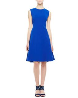 Womens Sleeveless Drop Waist A Line Dress, Cobalt   Lela Rose   Cobalt (12)