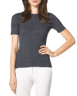 Womens Ribbed Knit Top   Michael Kors   Indigo (MEDIUM)