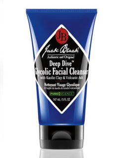 Mens Deep Dive Glycolic Facial Cleanser, 147ml   Jack Black   Black (147ml ,