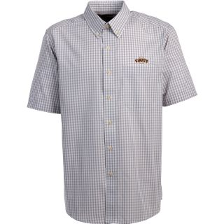 Antigua San Francisco Giants Mens Scholar Button Down Short Sleeve Shirt