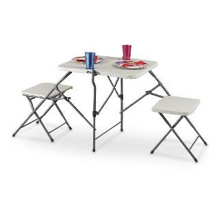 Portable Folding Table / Bench Set  Camping Tables  Sports & Outdoors