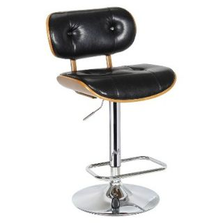 Barstool Boraam Industries Smuk Adjustable Swivel Stool   Black
