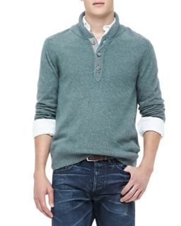 Mens Shawl Collar Sweater, Green   Green (SMALL)