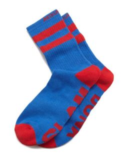 Slam Dunk Mens Socks, Red/Blue   Arthur George by Robert Kardashian   Red