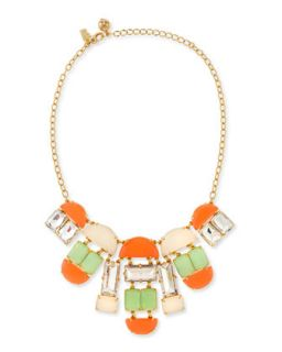 varadero tile necklace, coral/mint   kate spade new york   Multi colors