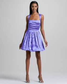 Womens Pleated Skirt Satin Cocktail Dress   Nicole Miller   Wisteria (8)