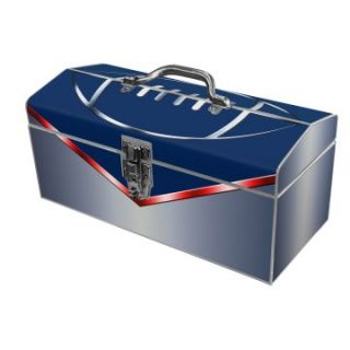 Sainty International 24 038 Art Deco Football Fanatic Blue Tool Box   Tool Boxes