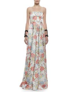 Womens Malene Floral Printed Strapless Ball Gown   Alexis   Garden floral