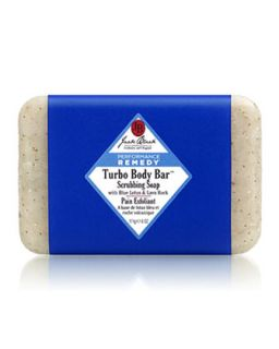 Mens Turbo Body Bar Scrubbing Soap   Jack Black   Black