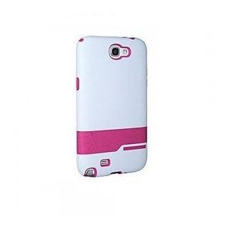 Body Glove Samsung Galaxy Note II Diamond Brushed Case   White / Raspberry   Samsung GALAXY Note II Case, Cover Cell Phones & Accessories