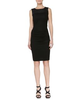 Womens Leather Cutout Sheath Dress   Halston Heritage   Black (4)