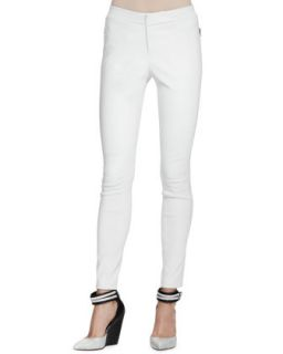 Womens Beryl Skinny Leather Pants   J Brand Ready to Wear   White (8)