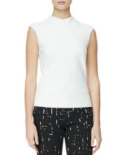 Womens High Neck Cap Sleeve Blouse   Narciso Rodriguez   White (48)