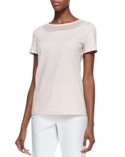 Womens Short Sleeve Tee, Daiquiri   Lafayette 148 New York   Daiquiri (MEDIUM)