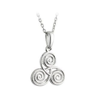 Sterling Silver Newgrange Pendant Necklace Made in Ireland Jewelry