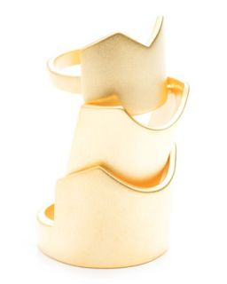 Hinged Yellow Gold Plated Ring   Eddie Borgo   Matte gold (6)