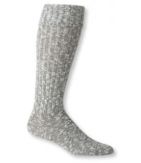 Womens Cotton Ragg Knee High Boot Socks