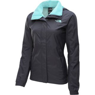 THE NORTH FACE Womens Resolve Rain Jacket   Size L, Greystone Blue