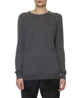 Womens Cashmere Crewneck Sweater   Bottega Veneta   Gray (46/10)