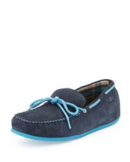 Mens R&R Suede Moccasin Slipper, Navy   Sperry Top Sider   Navy (8.5D)